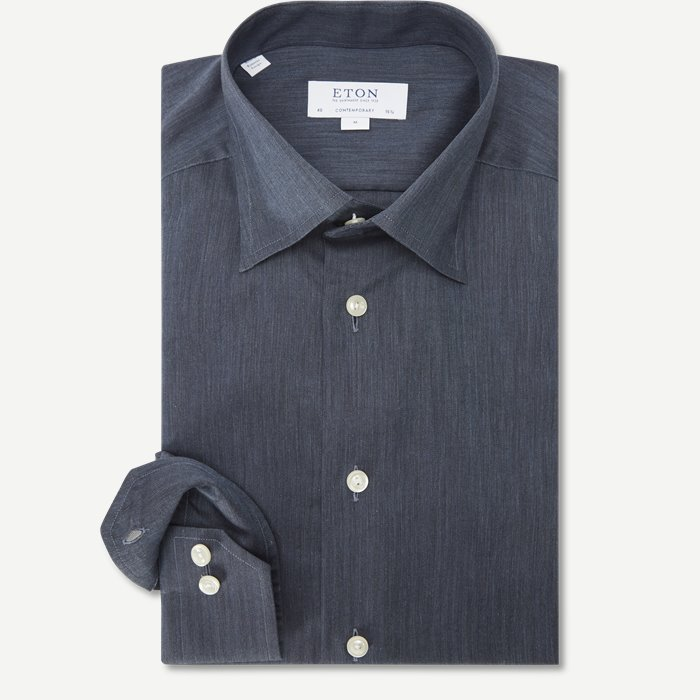 3991 Fine Twill Skjorte - Skjorter - Blå