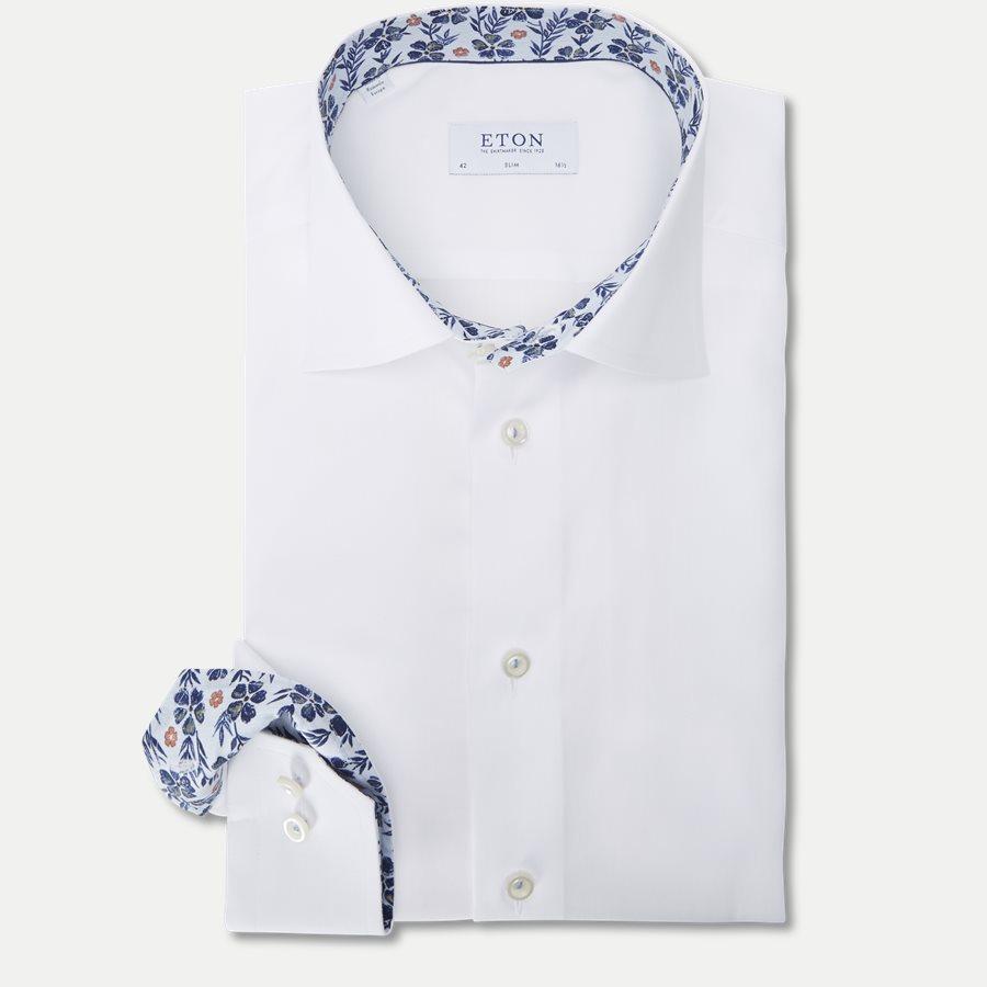3000 00525/00374 - Signature Twill Skjorte - Skjorter - HVID - 1