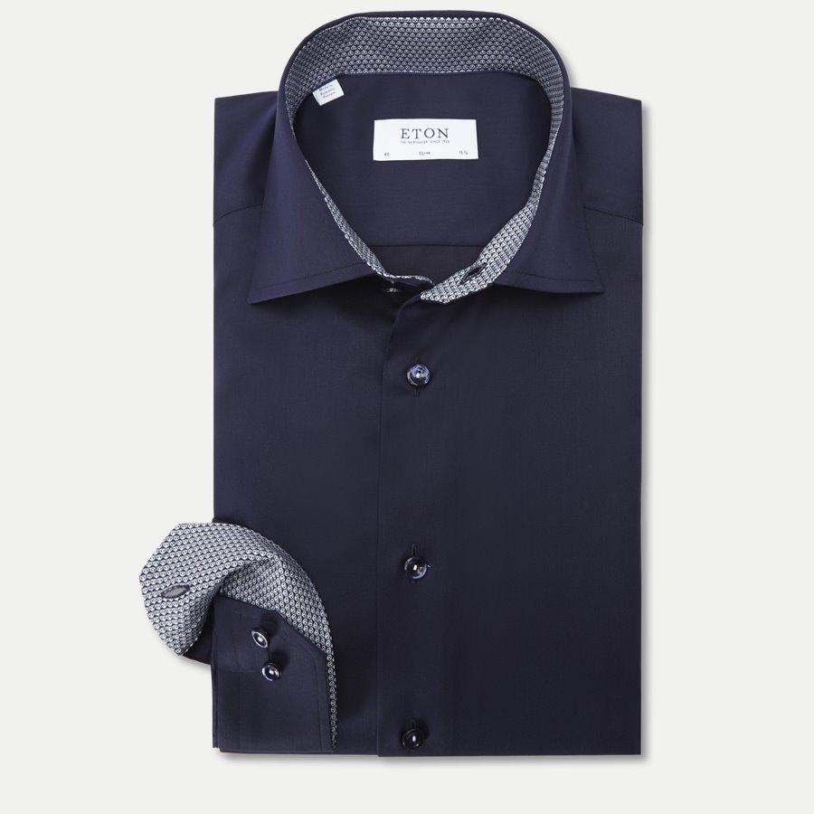 3000 00507/00333 - 3000 Signature Twill Skjorte - Skjorter - NAVY - 1