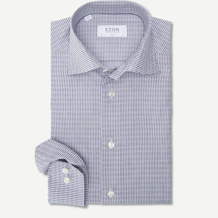 1037 Satin Skjorte - Skjorter - Blå