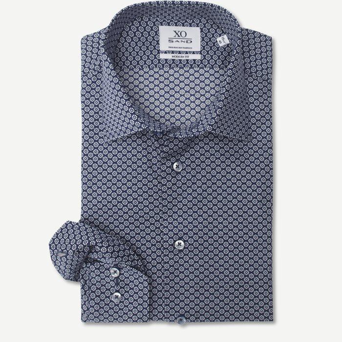 8077 Jake/Gordon Skjorte - Skjorter - Blå