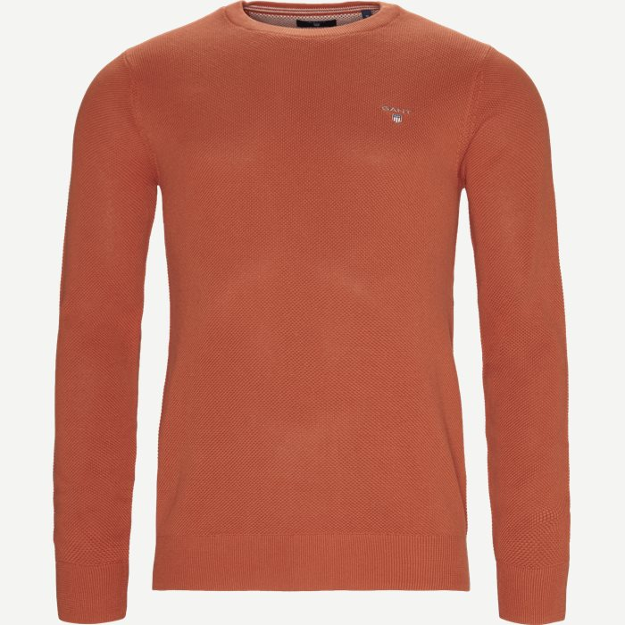 Piqué Crew Neck Strik - Strik - Regular - Orange
