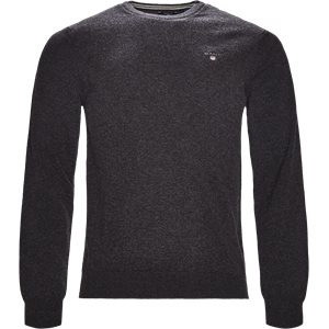 Lambswool Crew Neck Knit Regular | Lambswool Crew Neck Knit | Grå