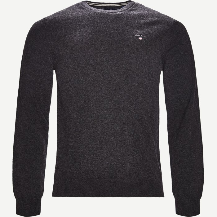 Lambswool Crew Neck Knit - Strik - Regular - Grå