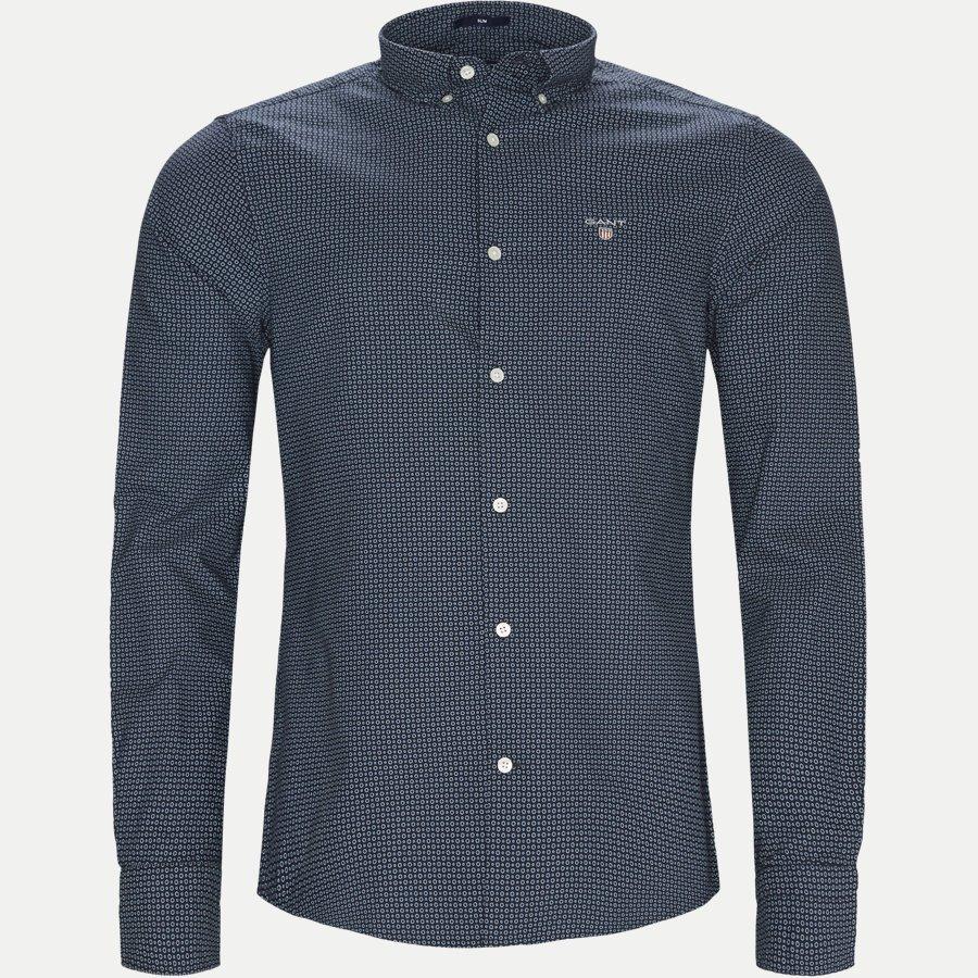 3011632 CIRCLE PRINT - Circle Print Shirt - Skjorter - Regular - BLÅ - 1
