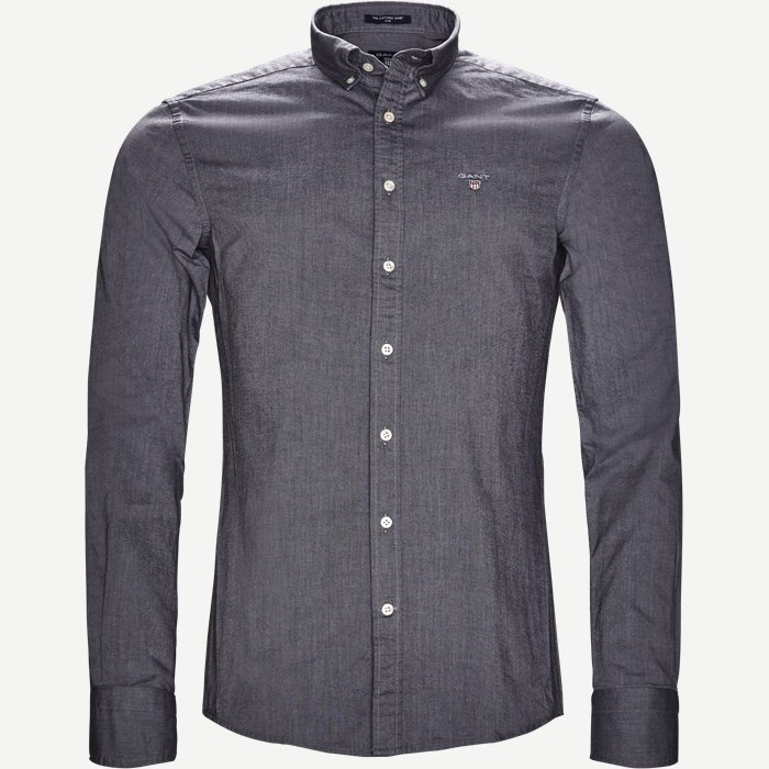 The Oxford Shirt - Skjorter - Slim - Sort