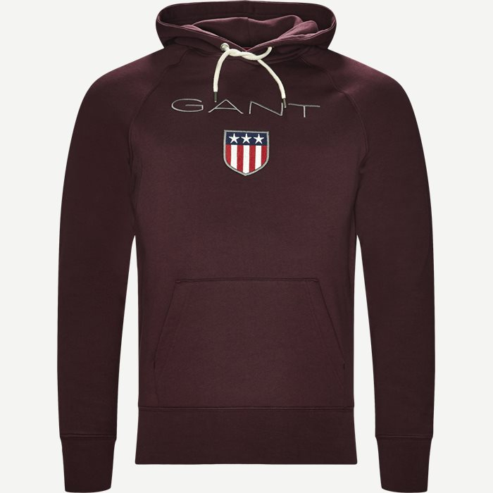 Shield Hoodie Sweatshirt - Sweatshirts - Regular - Bordeaux