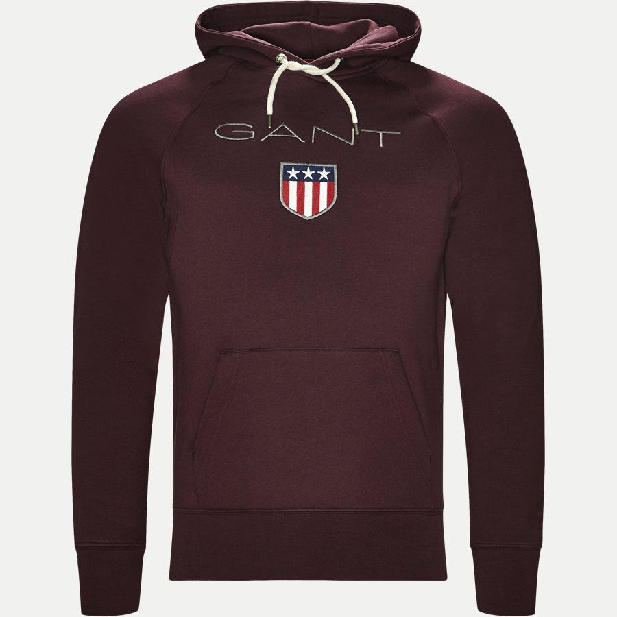276310 GANT SHIELD - Shield Hoodie Sweatshirt - Sweatshirts - Regular - BORDEAUX - 1