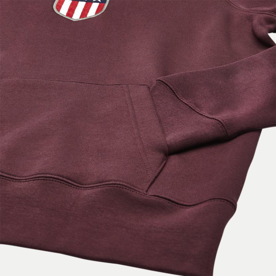 276310 GANT SHIELD - Shield Hoodie Sweatshirt - Sweatshirts - Regular - BORDEAUX - 4