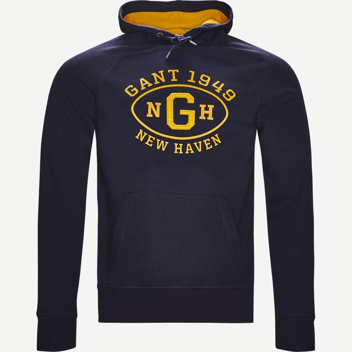 Graphic Hoodie - Sweatshirts - Regular - Blå