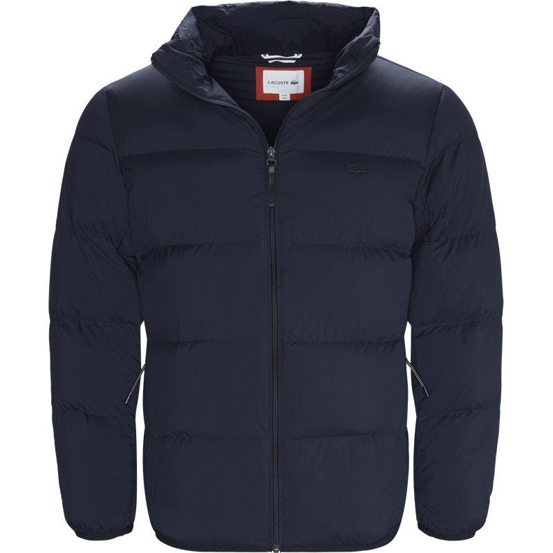 Lacoste - motion cancealed hood quiltet jacket fra lacoste på kaufmann.dk