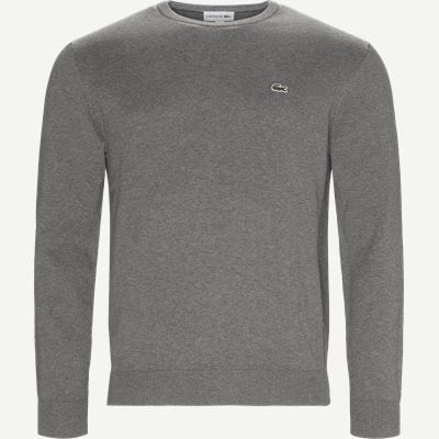 Crew Neck Strik Regular | Crew Neck Strik | Grå