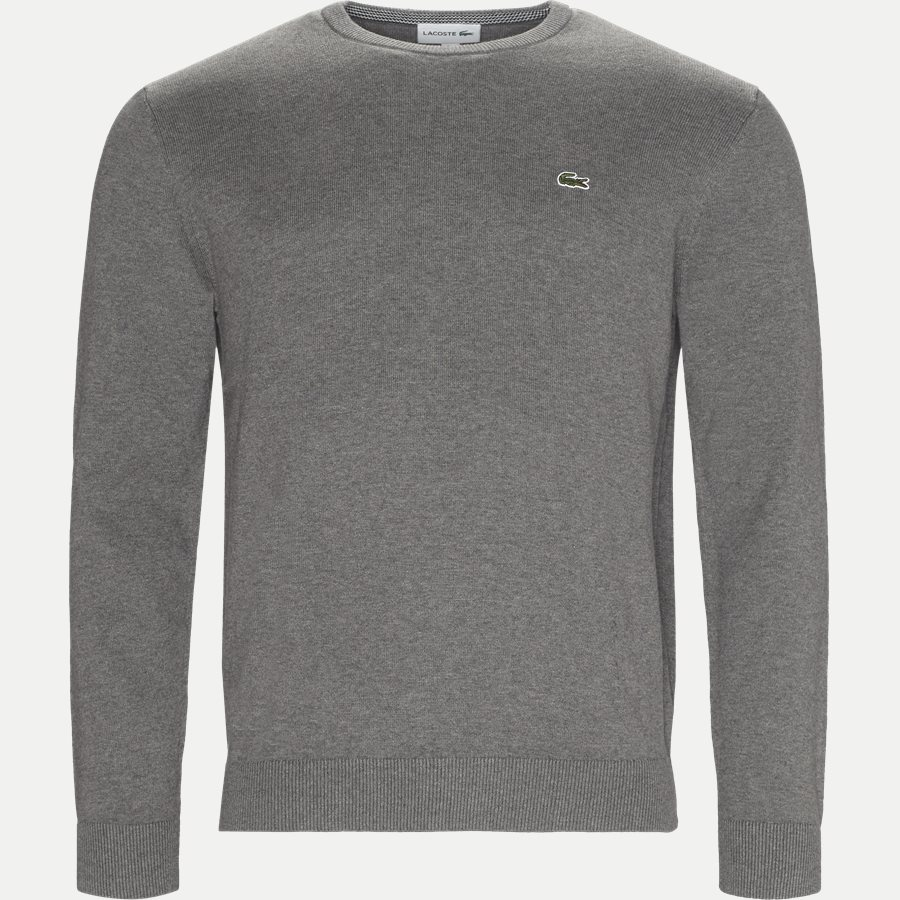 AH7004.. - Crew Neck Strik - Strik - Regular - GRÅ - 1
