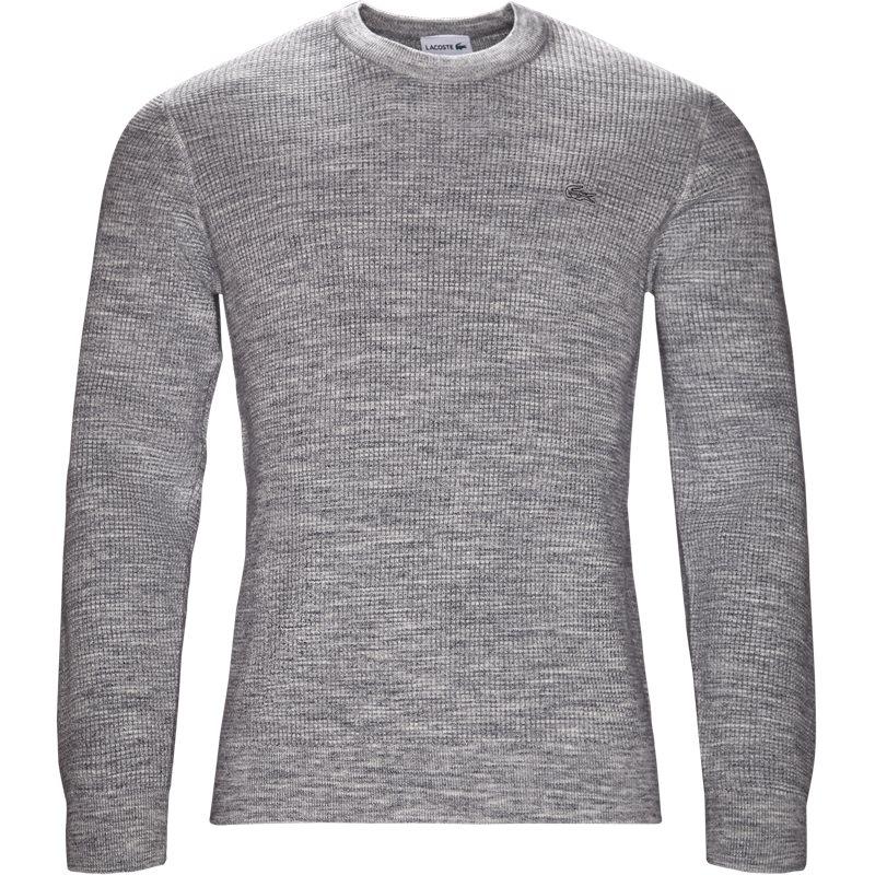 lacoste – Lacoste - crew neck honeycomb sweater fra kaufmann.dk