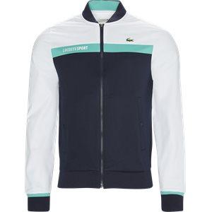 Colorblock Zip Pique Tennis Sweatshirt Regular | Colorblock Zip Pique Tennis Sweatshirt | Hvid