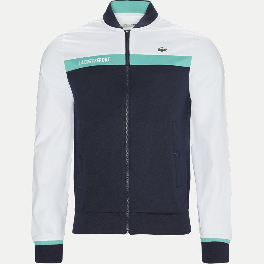 SH9504 - Colorblock Zip Pique Tennis Sweatshirt - Sweatshirts - Regular - HVID - 1