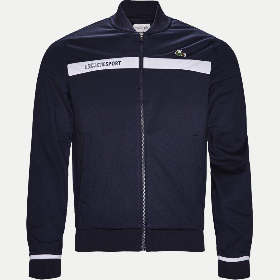 SH9504 - Colorblock Zip Pique Tennis Sweatshirt - Sweatshirts - Regular - NAVY - 1