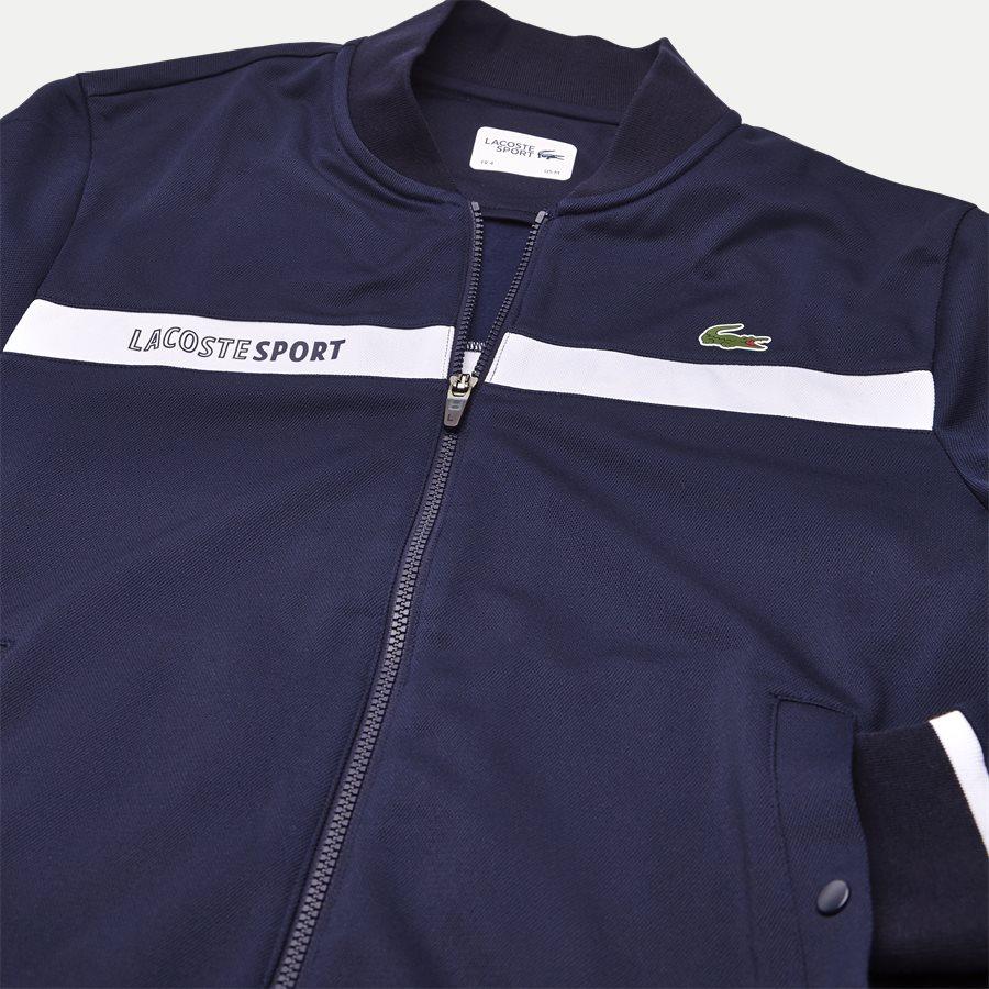 SH9504 - Colorblock Zip Pique Tennis Sweatshirt - Sweatshirts - Regular - NAVY - 3