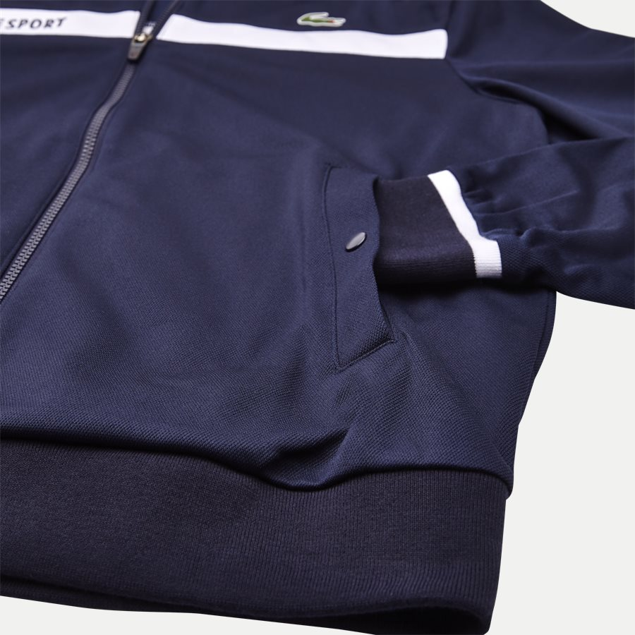 SH9504 - Colorblock Zip Pique Tennis Sweatshirt - Sweatshirts - Regular - NAVY - 4
