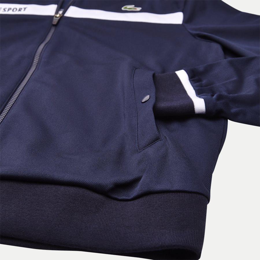 SH9504 - Colorblock Zip Pique Tennis Sweatshirt - Sweatshirts - Regular - NAVY - 4