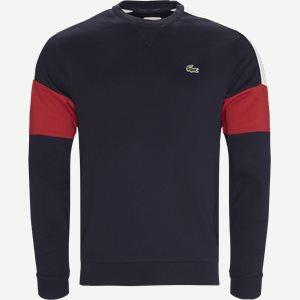 Colorblock Fleece Tennis Sweatshirt Regular | Colorblock Fleece Tennis Sweatshirt | Blå
