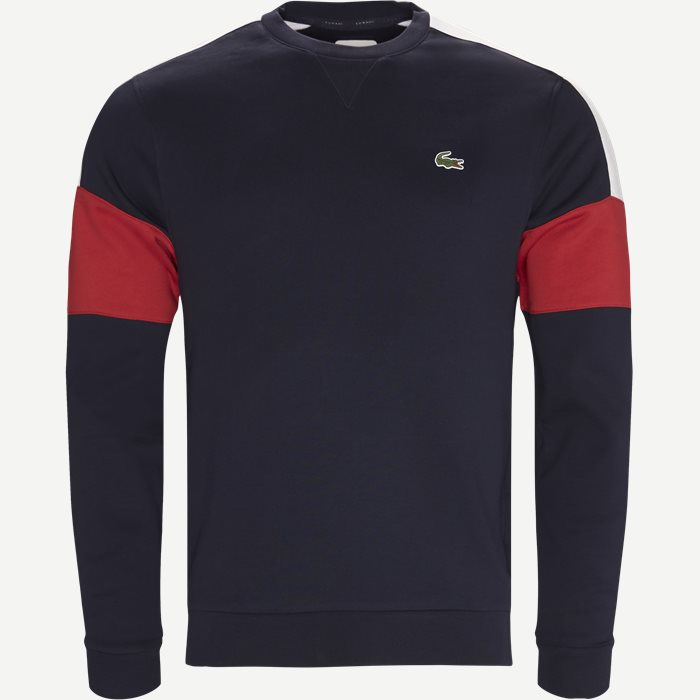 Colorblock Fleece Tennis Sweatshirt - Sweatshirts - Regular - Blå