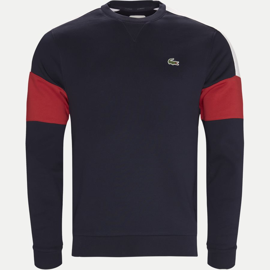 SH9509 - Colorblock Fleece Tennis Sweatshirt - Sweatshirts - Regular - NAVY - 1