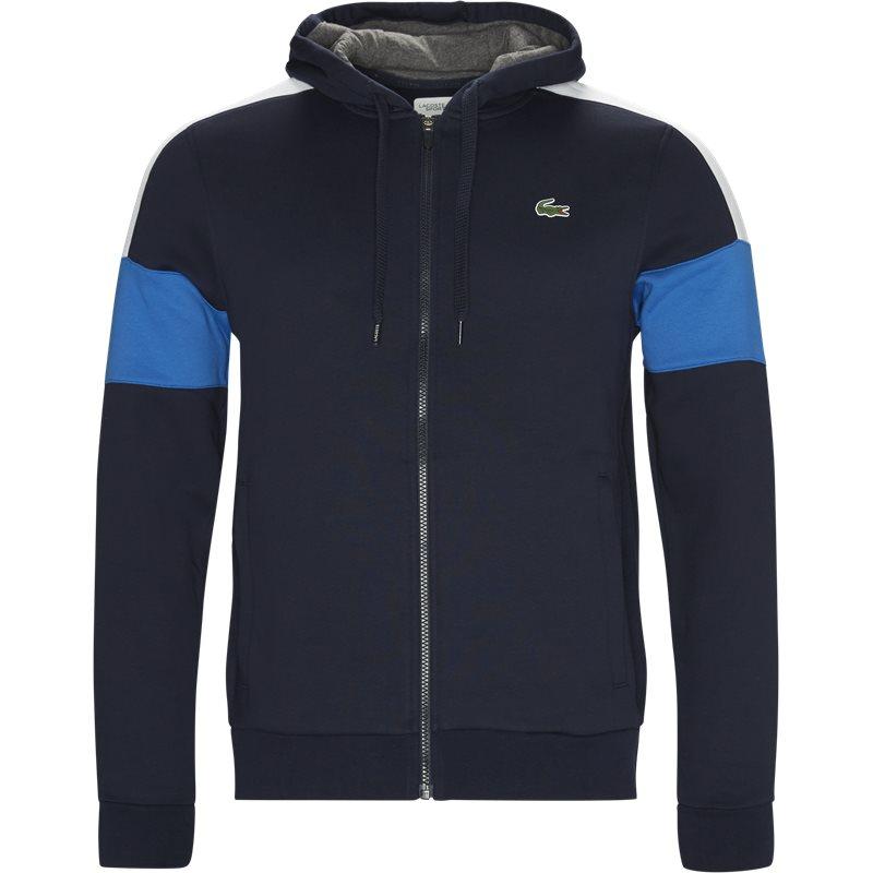 Lacoste - colorblock fleece zippered sweatshirt fra lacoste på kaufmann.dk