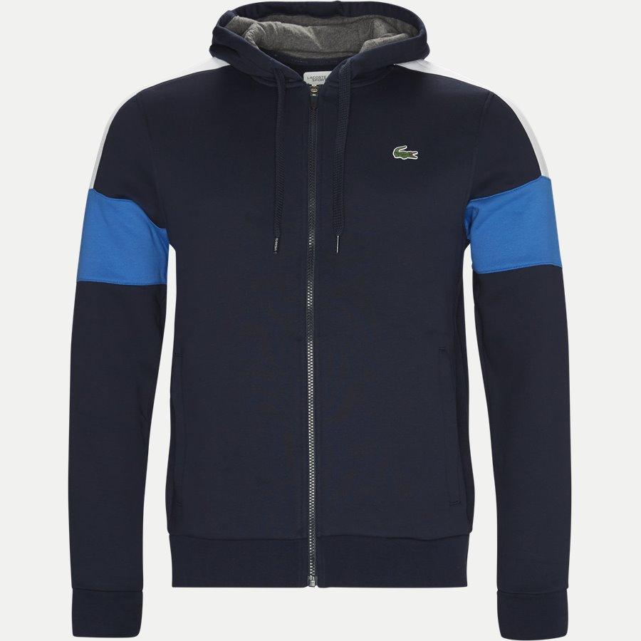 SH9492 - Colorblock Fleece Zippered Sweatshirt - Sweatshirts - Regular - NAVY - 1