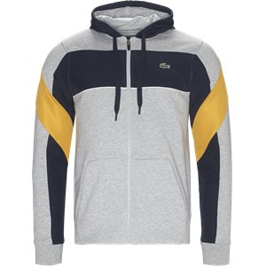 Hooded Zip Colorblock Tennis Sweatshirt Regular | Hooded Zip Colorblock Tennis Sweatshirt | Grå