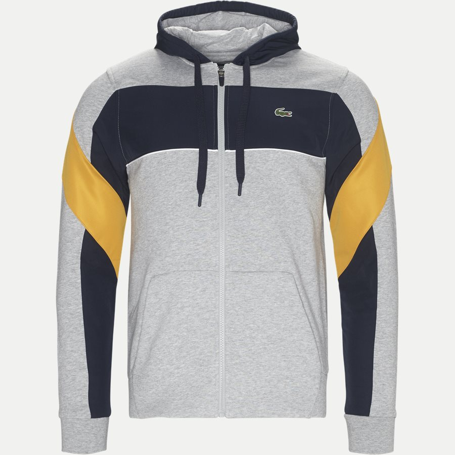 SH9496 - Hooded Zip Colorblock Tennis Sweatshirt - Sweatshirts - Regular - GRÅ - 1