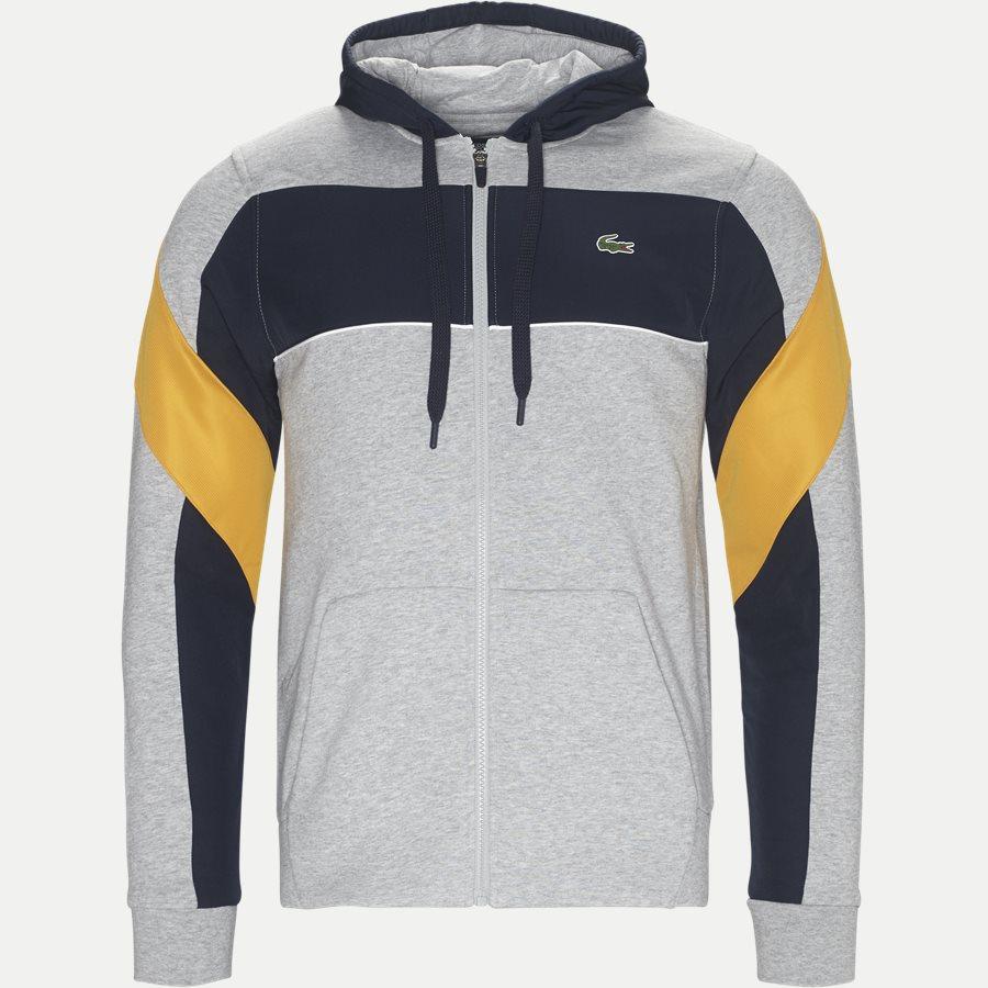 SH9496 - Hooded Zip Colorblock Tennis Sweatshirt - Sweatshirts - Regular - GRÅ - 1