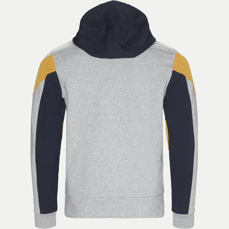 SH9496 - Hooded Zip Colorblock Tennis Sweatshirt - Sweatshirts - Regular - GRÅ - 2