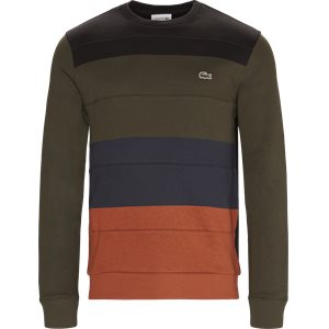 Colorblock Fleece Sweatshirt Regular | Colorblock Fleece Sweatshirt | Sort