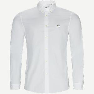 Stretch Cotton Poplin Shirt Slim | Stretch Cotton Poplin Shirt | Hvid