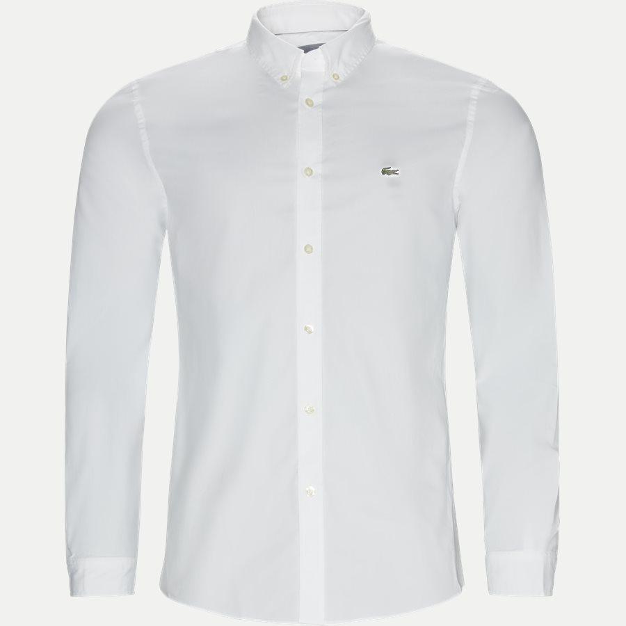CH5816. - Stretch Cotton Poplin Shirt - Skjorter - Slim - HVID - 1