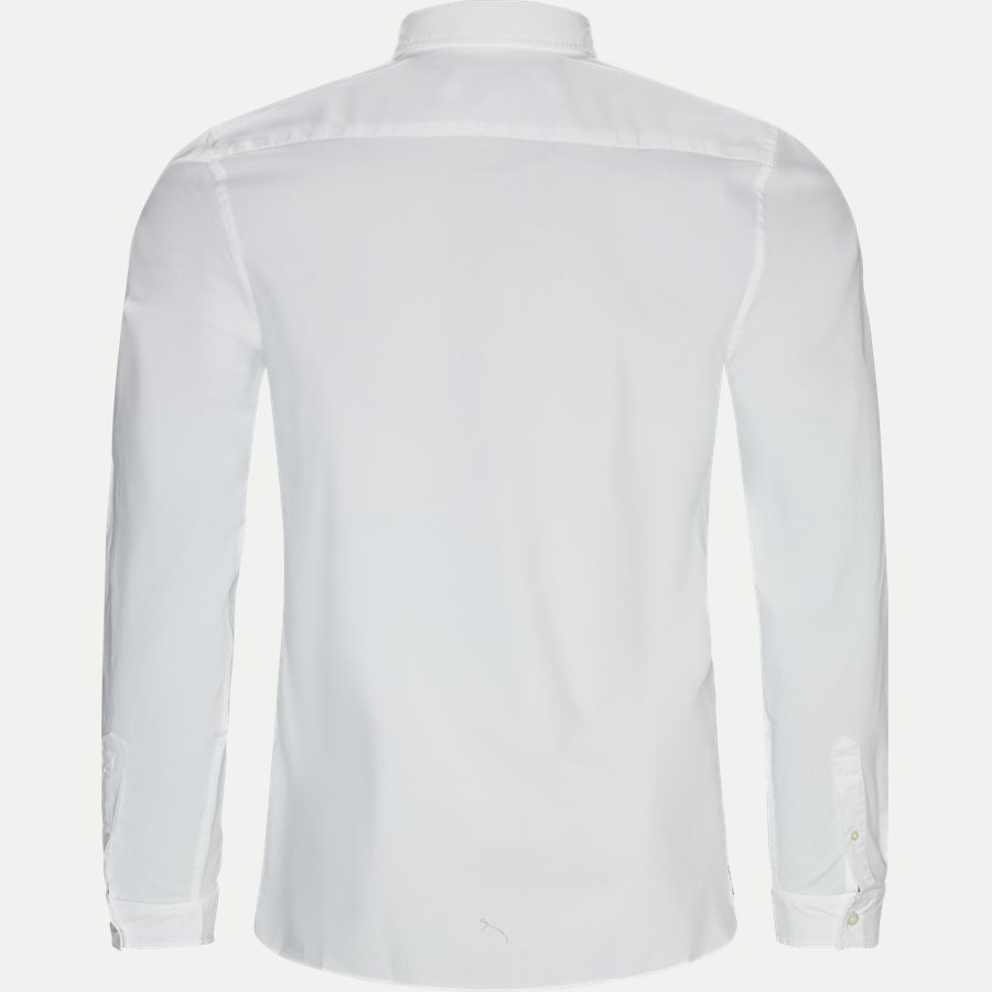 CH5816. - Stretch Cotton Poplin Shirt - Skjorter - Slim - HVID - 2