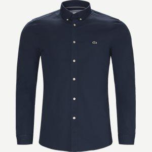 Stretch Cotton Poplin Shirt Slim | Stretch Cotton Poplin Shirt | Blå