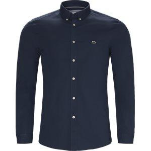 Stretch Cotton Poplin Shirt Slim   Stretch Cotton Poplin Shirt   Blå