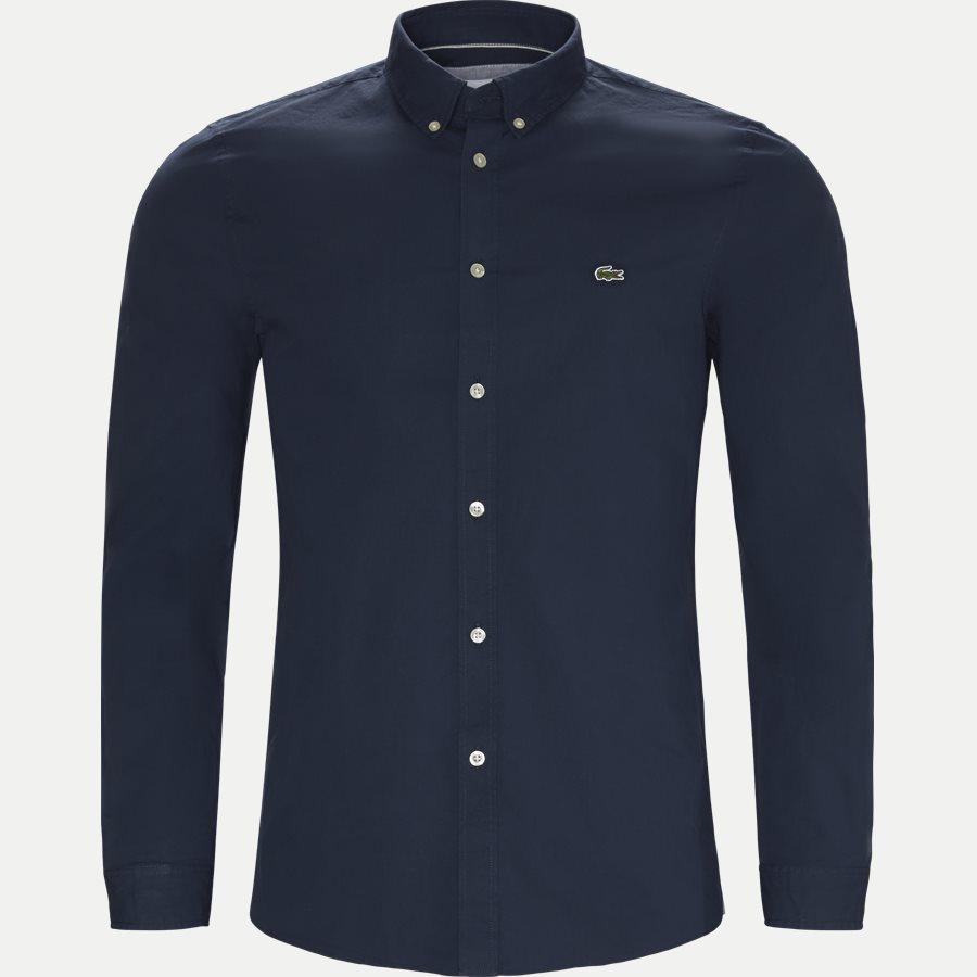 CH5816. - Stretch Cotton Poplin Shirt - Skjorter - Slim - NAVY - 1