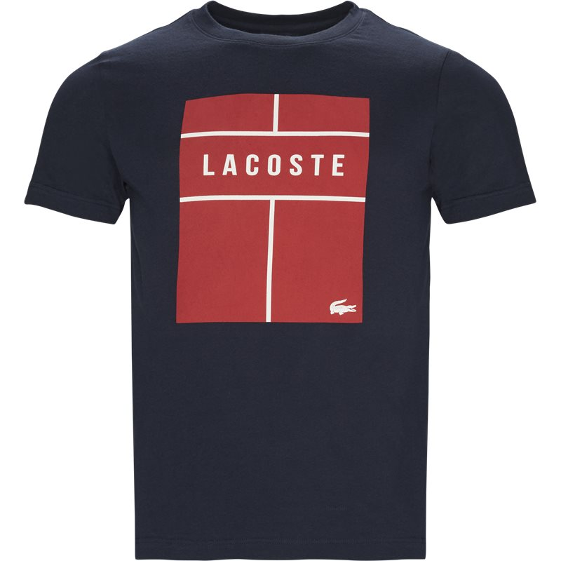 Lacoste - crew neck lettering jersey fra lacoste på kaufmann.dk