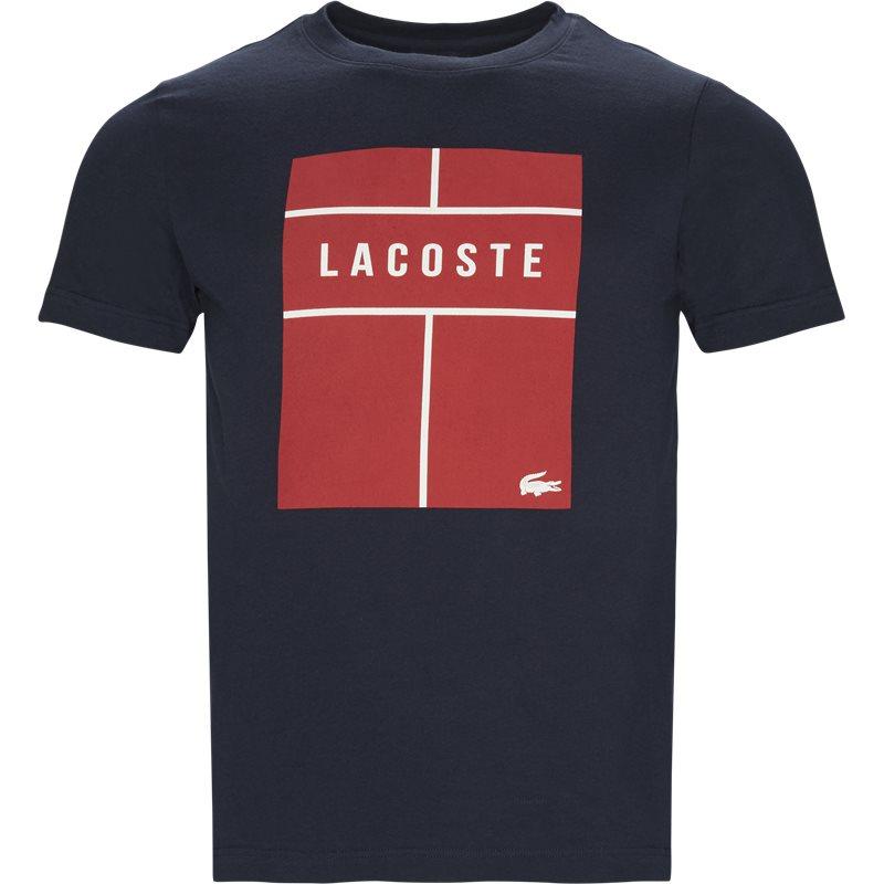 lacoste – Lacoste - crew neck lettering jersey på kaufmann.dk