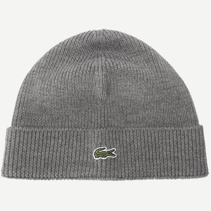 Turned Edge Ribbed Wool Beanie - Caps - Regular - Grå