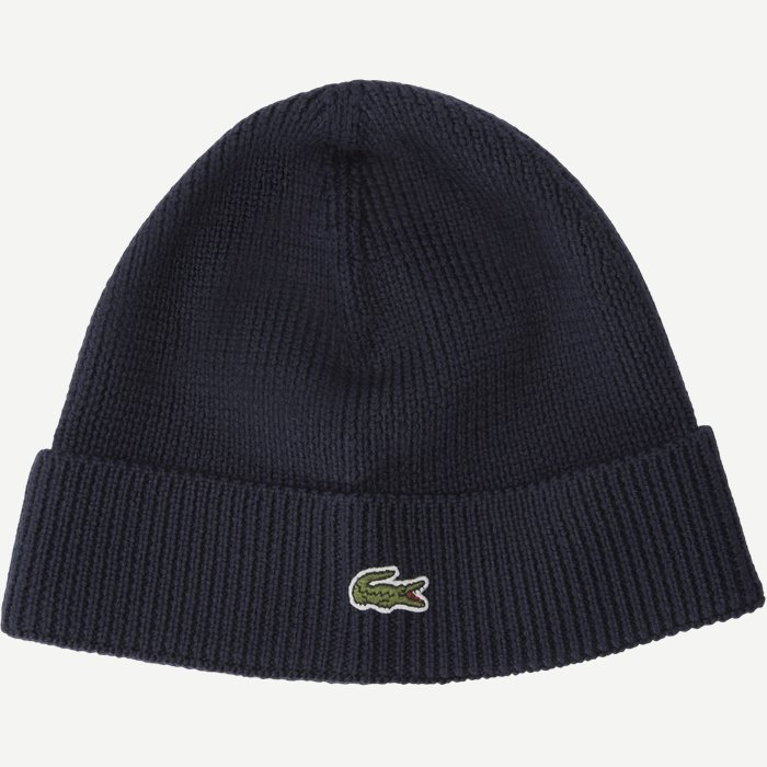 Turned Edge Ribbed Wool Beanie - Caps - Regular - Blå