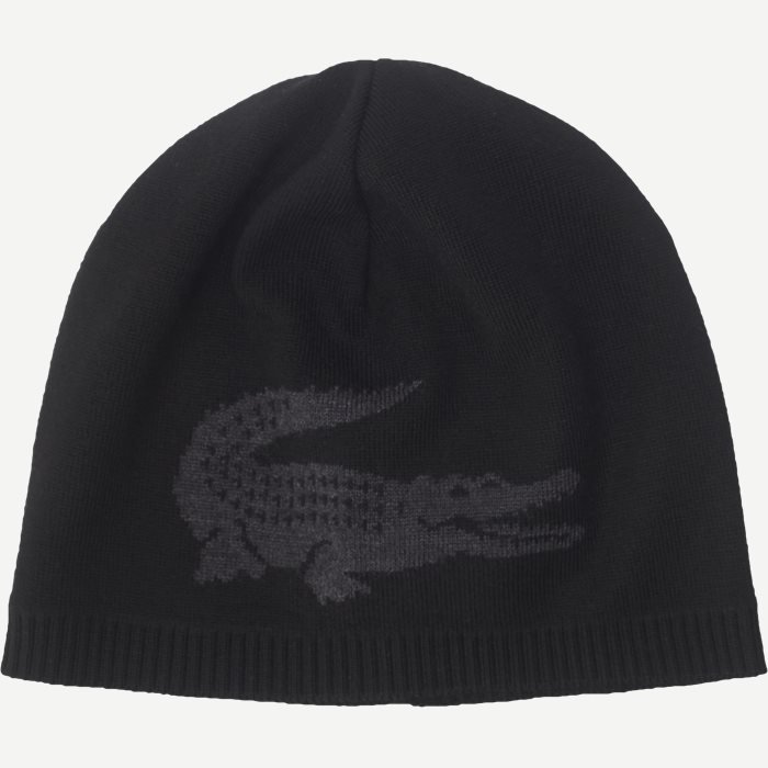 Jacquard Crocodile Wool Beanie - Caps - Sort