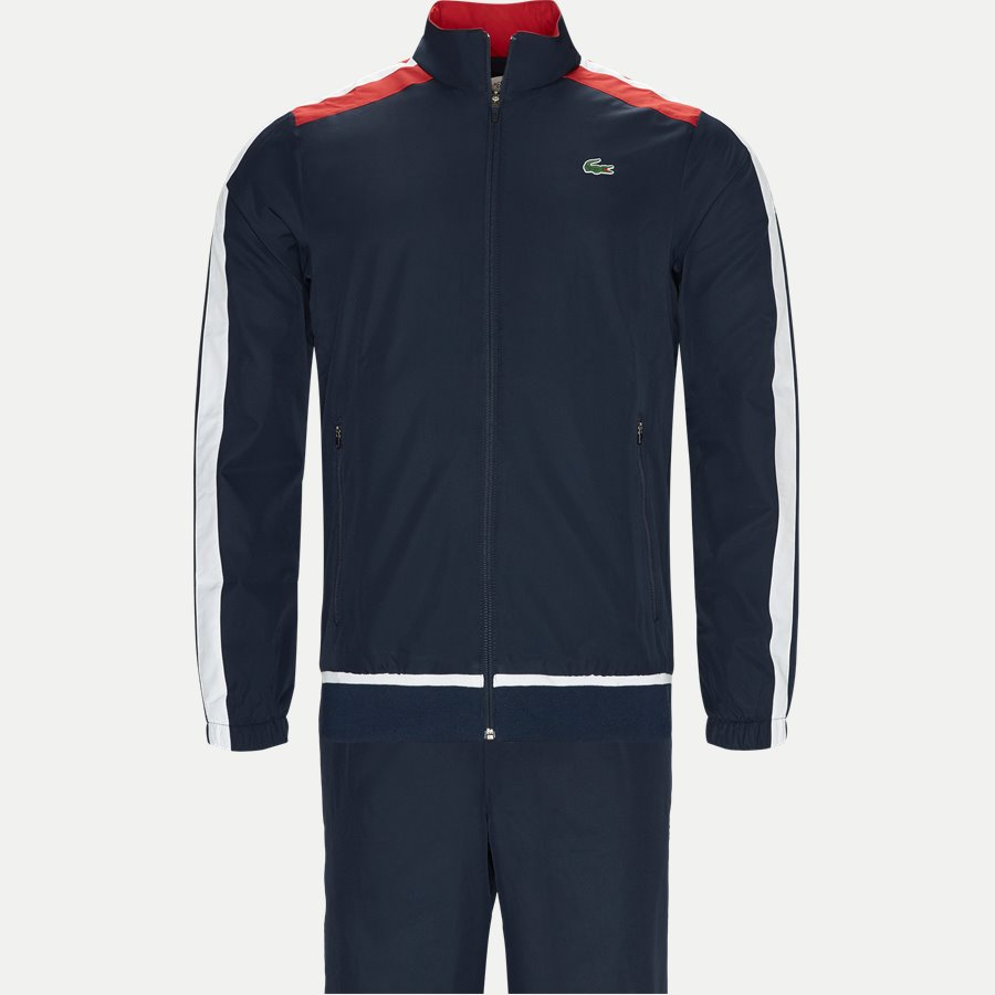 WH9518 - Colored Bands Teffeta Tennis Tracksuit - Sweatshirts - Regular - NAVY - 1