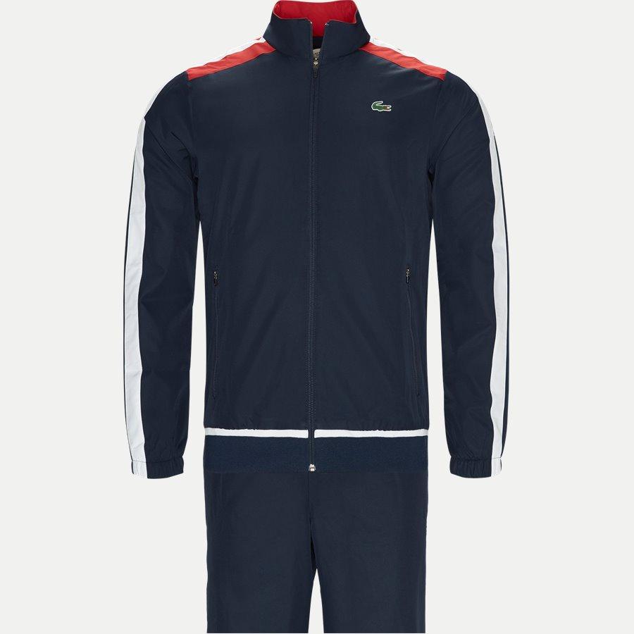 WH9518 - Colored Bands Teffeta Tennis Tracksuit - Sweatshirts - Regular - NAVY - 1