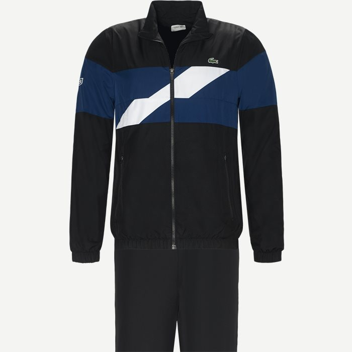 Colored Bands Taffeta Tennis Tracksuit - Sweatshirts - Regular - Sort
