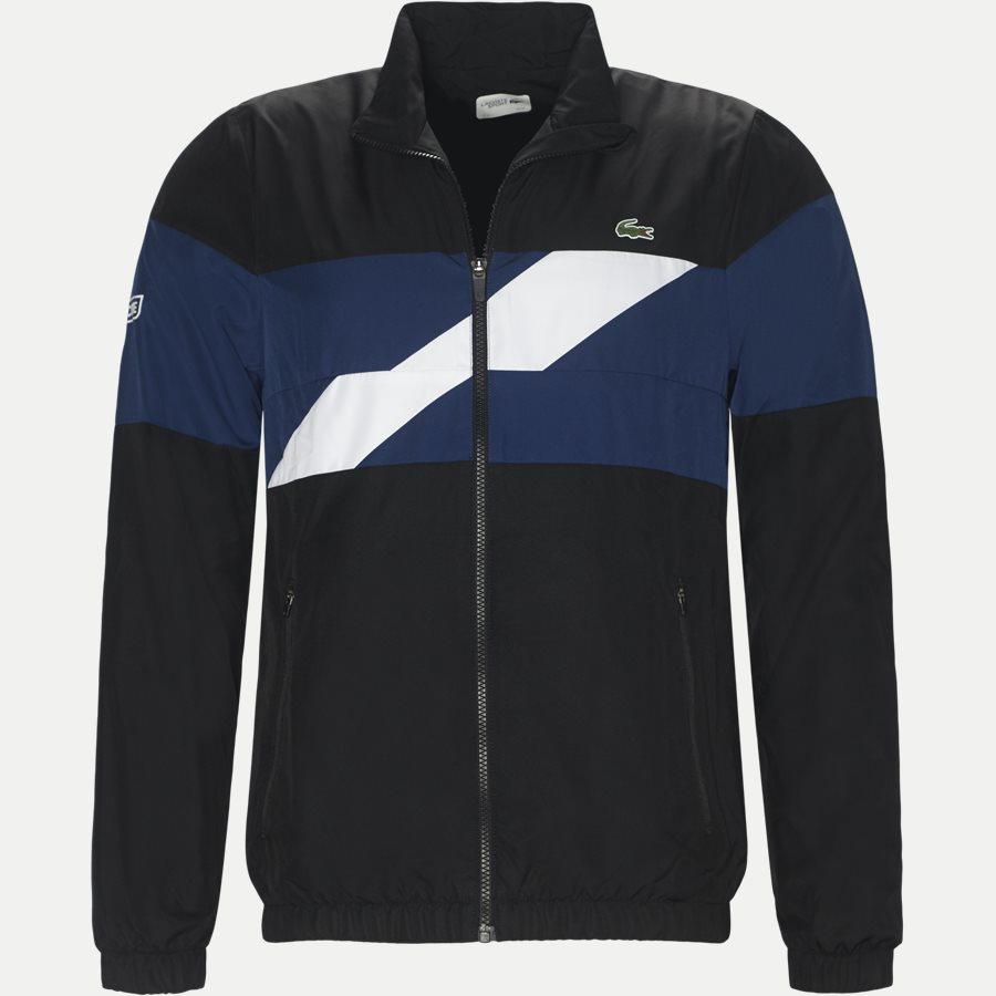 WH9538 - Colored Bands Taffeta Tennis Tracksuit - Sweatshirts - Regular - SORT - 2