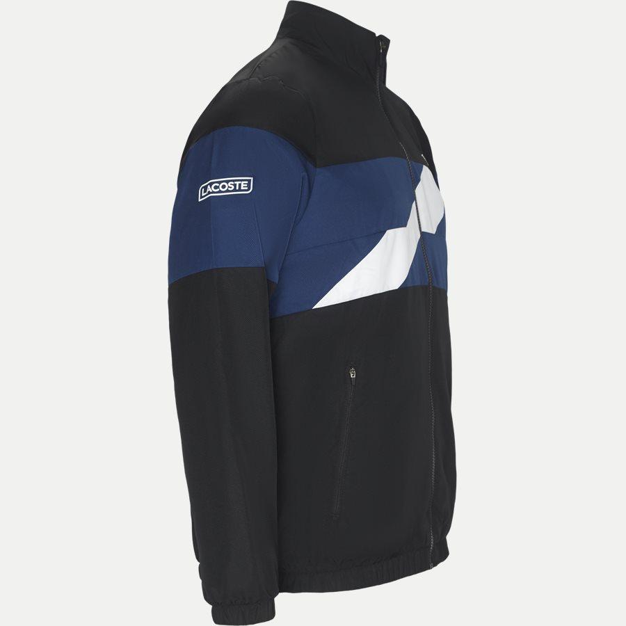 WH9538 - Colored Bands Taffeta Tennis Tracksuit - Sweatshirts - Regular - SORT - 4
